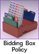 Bidding Box policy - Partners