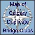 Map of Calgary Bridge Clubs